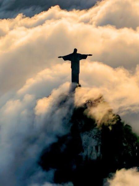 Ježíš na hoře Corcovado v Rio de Janeiro