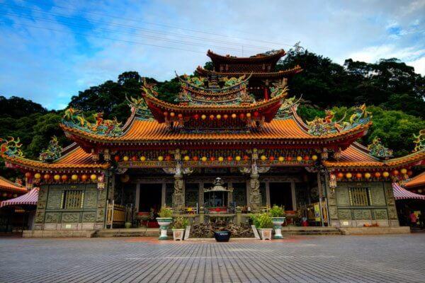 Typický tchajwanský chrám