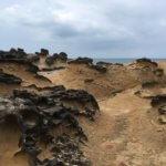 Kamenné útvary v geologickém parku Yehliu