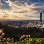 Pohled na město Tchaj-pej