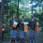 Muži jdou do onsenu