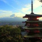 Slavný pohled z pagody Chureito