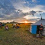 Západ slunce u jurty
