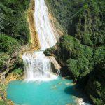 Vodopád El Chiflón je dle názoru průvodce nejhezčí v celém Mexiku