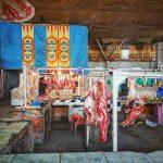 Trh s masem v hlavním městě Biškek