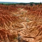 Měsiční krajina pouště Tatacoa