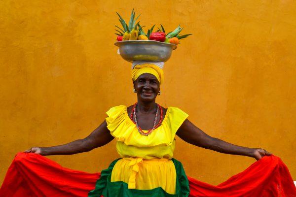Pouliční prodavačka ovoce v Cartageně